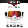 Outdoor sports camera sunglasses, moto or snow goggles with action camera