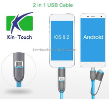 2 in 1Flat Noodle USB cable