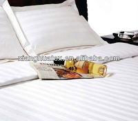100% cotton sateen stripe hotel bedding set