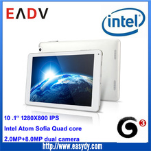 new products 2015 10.1inch 1280x800 IPS Intel Quad core 8-32GB tablet android, 3G 8.0MP camera Android 5.0 metal tablet PC
