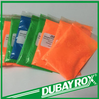 Fluorescent pigment application of glass , enamel, ceramic industry