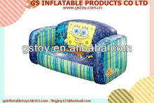 PVC inflatable double design outdoor kids sofa inflatable furniture EN71 approved