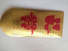 2015 venta al por mayor caliente hoja dorado bolsillo hoja dorado sobres