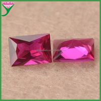 wholesale rectangle shape synthetic ruby 5# red synthetic corundum