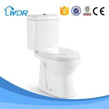 Chaozhou cerámica masa de la fábrica de producción de dos piezas de lavado higiénico
