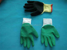 Cheapest hot sell 10 gauge string knitted working gloves and smooth latex coated gloves with cold resitant