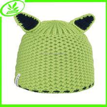 Sport outside knit cap crochet cat ear hat for sale