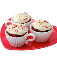 Pentagram Shape Silicone Teacup Cupcake Molds