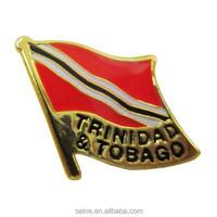 Trinidad&tobago high quality promotion country custom sword lapel pin