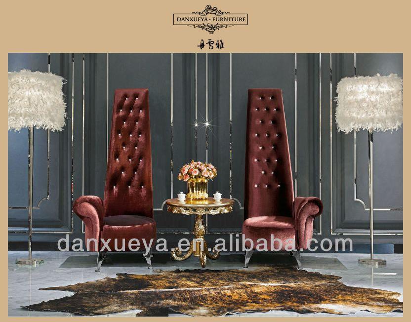 Royal rococo king chair high back chair single arm fabric for Royal chair designs