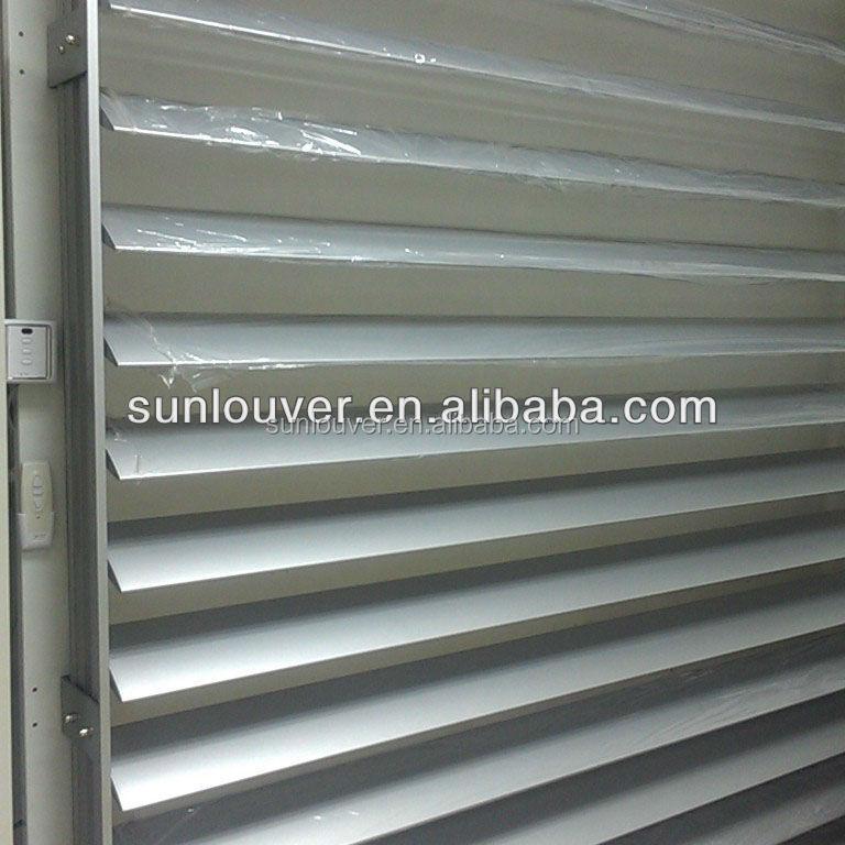 aluminum automatic ventilation louvers as sun louver view. Black Bedroom Furniture Sets. Home Design Ideas