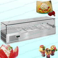 5 pans table top air cooling refrigerated commercial salad bar