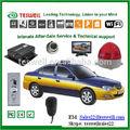 sd tarjeta del dvr móvil con video en vivo de seguimiento de la plataforma/software libre/700 tvl cámaras de autobús/móvil app