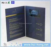 business gift use video brochure 7 inches lcd/video brochure with hard cove