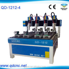 cylindrical wood carving cnc router/woodworking cnc routers for round wood QD-1212-4