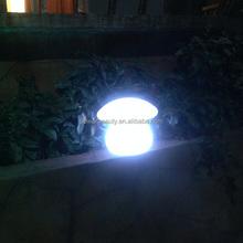 flashing 16 color changing solar mushroom led garden light