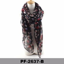 Wholesale 100% polyester volie print chevron factory scarf