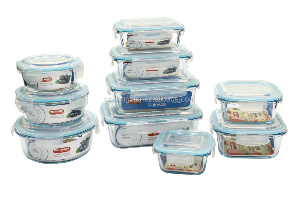 Lunch Box With Leakproof Bento Lunch Box Pyrex Glass Lock Container