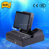Touch screen pos terminal Machine / Touch pos computer 32G SSD/ 320G HDD WIFI