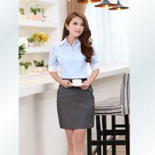 nuevo diseño de moda blusas para uniformes de oficina
