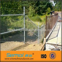2013 High Quality PVC Coated Galvanized Chain Link Fence Netting Barbed Top (factory manufacturer)
