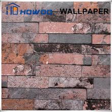 Howoo pvc texture 3d special design brick wallpaper red