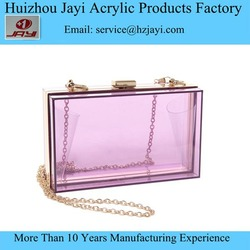 Wholesale Clear Acrylic lucite Perspex party and wedding ladies clutch purse