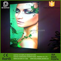 New innovative frameless electronic led fabric light box for advertising