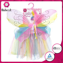 butterfly wings costume magic fairy wand rainbow handmade party costume fairy wings skirts tutu for girls