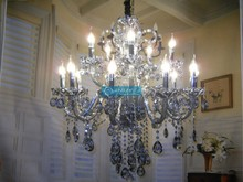 15 Arms Large Crystal Chandelier Lamp with CE UL and 3 Year Warranty CCSPSL6801-10+5B