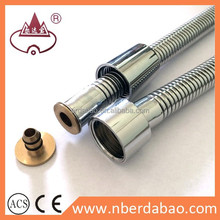 High quality SS#304 chrome plated slim shower hose for bathtub faucet