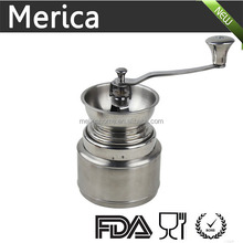 Manual stainless steel grinder for coffee, hand coffee grinder