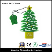 Christms tree memory card stick rubber usb flash drive (PVC-SC004)