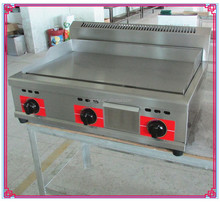 Restaurant Commercial Counter Top 3 Buner 16mm Flat Plate Gas Grill Griddle