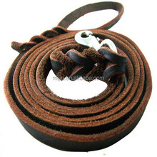 High quality leather pet collar leash