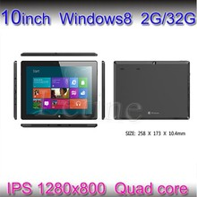 10.1 inch IPS Quad Core Tablets 1.5Ghz 2G/64G WIFI Window 8 Tablet PC with Removable Keyboard