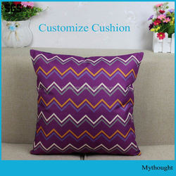 Fancy Sublimation Home Decorative Cotton Throw Pillow Case Cushion Cover For Different Size