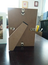 E1 E2 degree 2.5mm 2.7mm 3.0mm thickness MDF backboard with easel for PVC and aluminum photo frames in cheap price