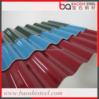 Baoshi Steel galvanized corrugated mix color steel roof tiles in cheap price from China