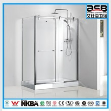 with deep rectangular shower tray 8mm Tempered Glass shower encloser