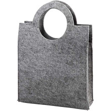 Plain Grey Felt Craft Tote Bag - Decorate Storage Sewing - Ladies Handbag