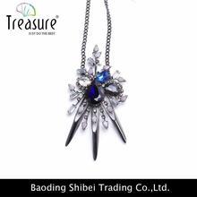 two-layer new hot jewelry cheap rhinestone female decorative catholic cross necklace