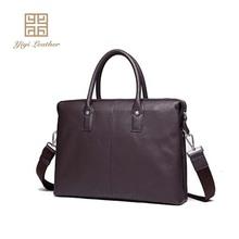 Wholesale luxury leather men business bag