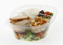 PET disposable plastic food container