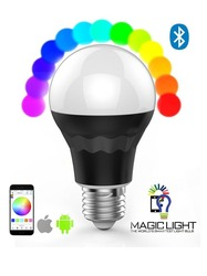 Bluetooth Smart LED Light Bulb - Smartphone Controlled Dimmable Multicolored Color Changing Lights led bulb heat sink