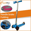 Folding and adjustable mini micro scooter with hand brake