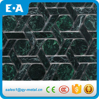 Hexagon Mix Rhombus Pattern Wall Tile Mosaic Stone Green Marble