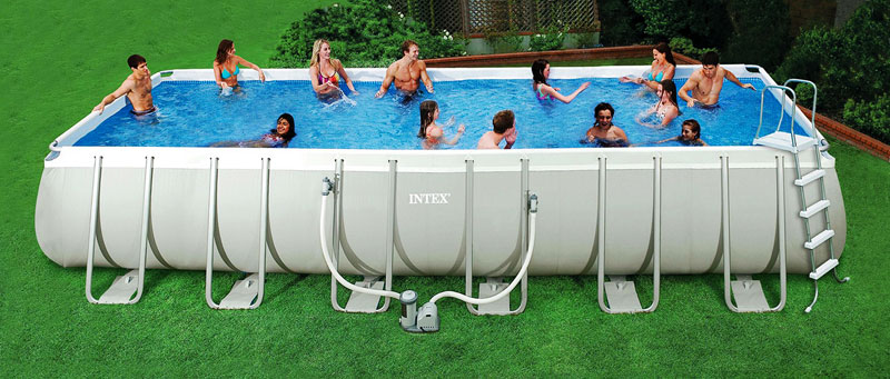 Intex Rectangular Ultra Frame Swimming Pools Buy Intex Plastic Swimming Pools Outdoor Swimming