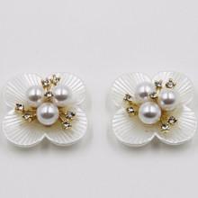 2015 wedding decoration rhinestone 29mm imitation pearl flower acrylic hair jewellery P02847