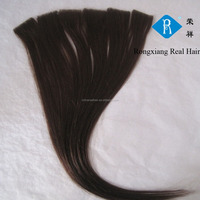 100% Human Remy Hair Hand Tied Full Head skin weft pu hair extension